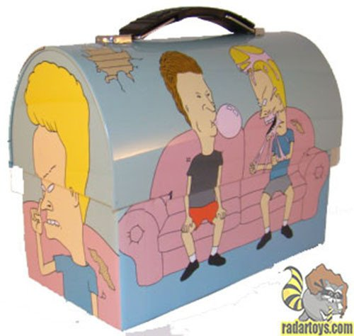 Beavis and Butthead Blue Bubblegum Metal Workmans Lunchbox