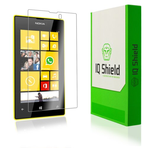 Iq Shield Liquidskin - Nokia Lumia 520 Screen Protector With Lifetime Replacement Warranty - High Definition (Hd) Ultra Clear Phone Smart Film - Premium Protective Screen Guard - Extremely Smooth / Self-Healing / Bubble-Free Shield - Kit Comes In Frustrat