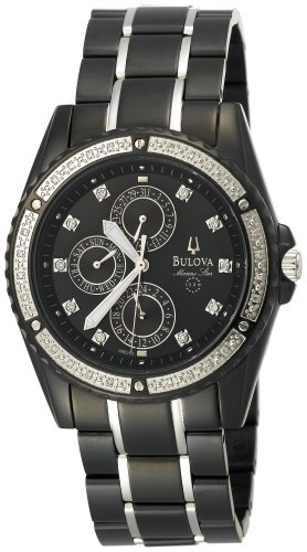 Bulova Men's 98E003 Marine Star Diamond Accented Watch