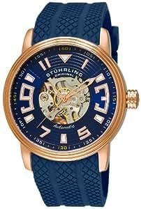 Stuhrling Original Men's 1079.3346C6 Classic Delphi Automatic Skeleton Blue Watch