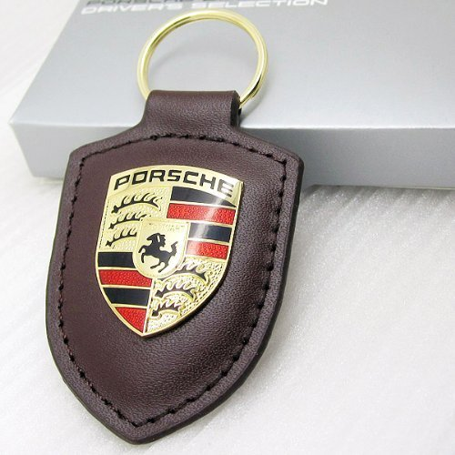 Car-Emall Porsche Brown Key Chain Car Logo Key Ring Fashion Gift 1-pc Set by Car-Emall [並行輸入品]