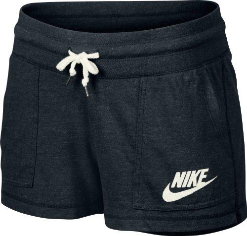 shorts de sport nike short gym vintage pour femme noir noir 44. Black Bedroom Furniture Sets. Home Design Ideas