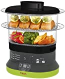 T-fal VC133851 Balanced Living Compact 4-Quart 2-Tier Electric Food Steamer, Black