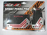 Elevo - Jet Black Racing Pedal Covers Automatic , Pedal Set in Automotive