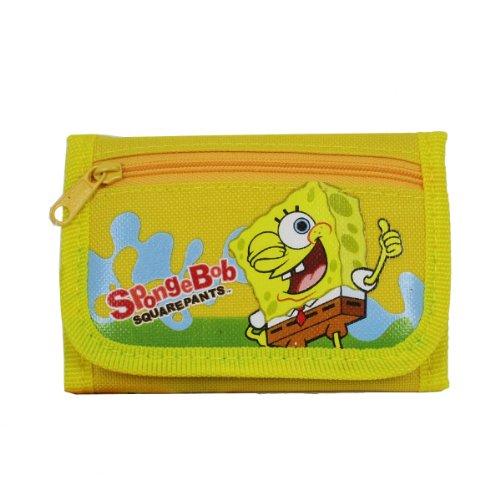 Officially Licensed SpongeBob Squarepants Velcro Closure Tri Fold Wallet - SpongeBob - 1