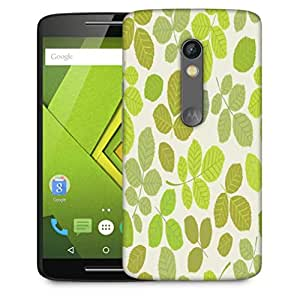 Snoogg Colorful Leaves Cream Pattern Designer Protective Phone Back Case Cover For Motorola Moto X Play