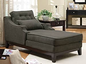 Coaster furniture 500028 upholstered chaise for Bernard chaise lounge