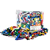 "Building Bricks - 500 Pc ""Big Bag of Bricks"" Bulk Blocks with 27 Roof Pieces - Tight Fit and Compatible with Lego"