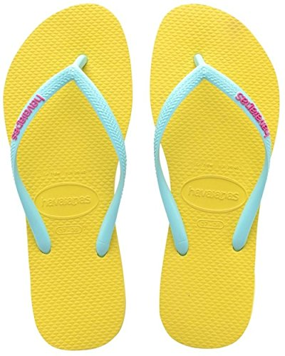 HavaianasSlim Logo - Sandali donna , Giallo (Yellow (Revival Yellow 2827)), 36.5 EU