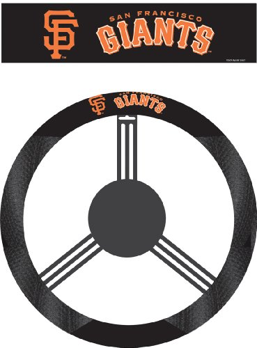 MLB San Francisco Giants Poly-Suede Steering Wheel Cover (Steering Wheel Cover Giants compare prices)