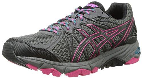 ASICS Women's Gel-Fujitrabuco 3 Neutral Running Shoe,Titanium/Black/Magenta,8 M US