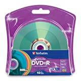 Verbatim 4.7 GB up to 16x LightScribe Color Recordable Disc DVD+R (10-Disc Blister) 96941