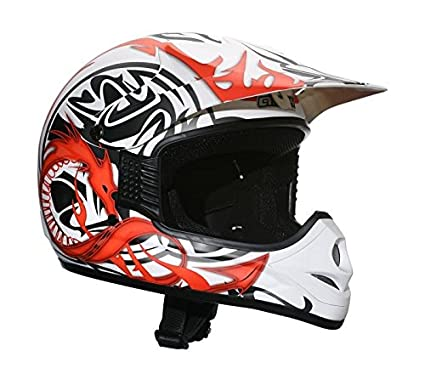 AMX AMXDRAGONBS Casque Cross Dragon Blanc S