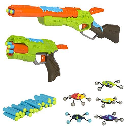 X-Shot - Rifle y pistola con 24 dardos gomaespuma y 5 insectos bug attack (Colorbaby 44202)