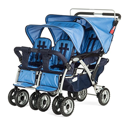 Child Craft Sport Multi-Child Stroller, Quad, Regatta Blue - 1