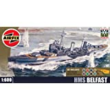 Airfix A50069 Imperial War Museum HMS Belfast 1:600 Scale Plastic Model Gift Set
