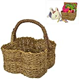 Charming Country Rustic Clover Leaf Shape Top Handle Woven Home Storage Organizer Picnic Basket - MyGift®