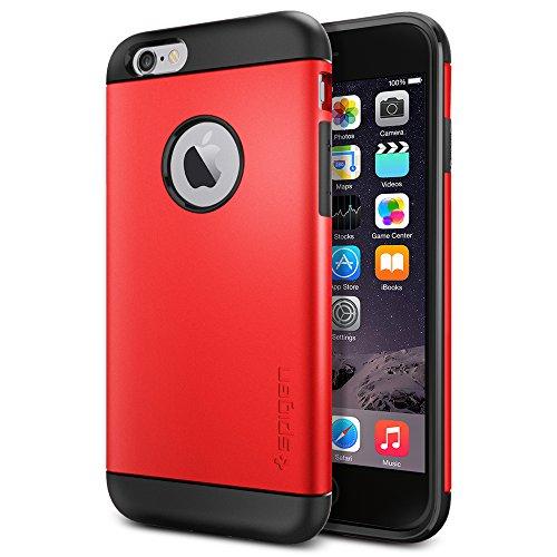 iPhone 6 ケース, Spigen® [ スリム+保護力+個性 ] Apple iPhone 4.7 (2014) スリム アーマー The New iPhone アイフォン6 (国内正規品) (エレクトリック・レッド SGP10956)