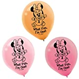 15-Piece Minnie's 1st Birthday Balloons, Pink