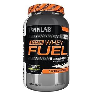 Twinlab 100% Whey Fuel Nutritional Shake, Vanilla Rush, 2 Pound