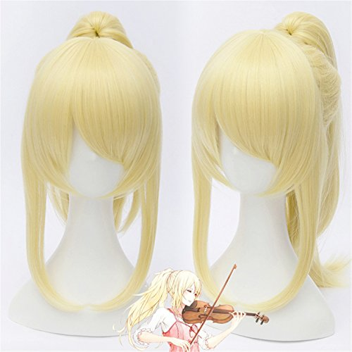 Vicwin-One Your Lie in April Miyazono Kaori Hairpiece Wig Cosplay