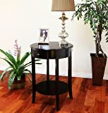 ORE International Cherry Round End Table
