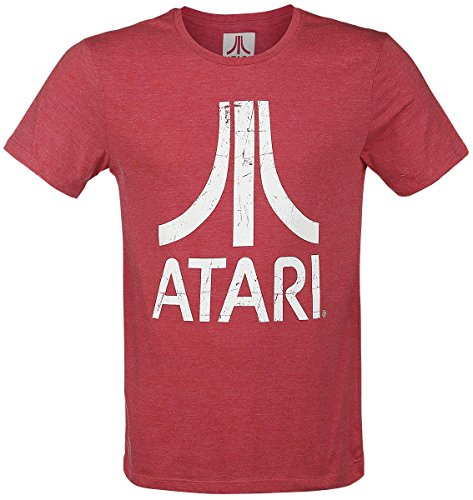 atari-logo-hombres-camiseta-rojo-tamano-medium