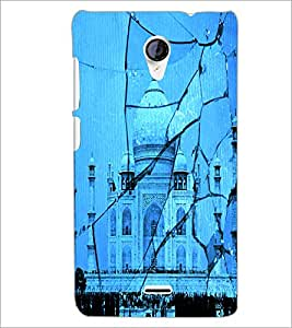 PrintDhaba Taj-Mahel D-2843 Back Case Cover for MICROMAX A106 UNITE 2 (Multi-Coloured)