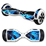 MightySkins Protective Vinyl Skin Decal for Self Balancing Scooter Hoverboard mini hover 2 wheel x1 razor wrap cover sticker Blue Flames