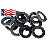 """Garden Hose Heavy Duty Rubber Washer 12 pack MADE IN USA High quality Aero Space """"Real Rubber"""" used by Aerospace & Aircraft mfg temp 500'F OK washing machine hot water & outdoor garden hose -65'F"""