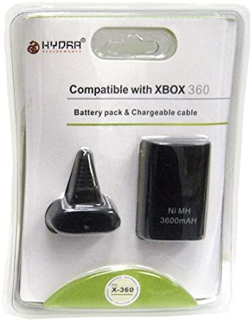 Xbox 360 Battery Pack and Charge Kit Black