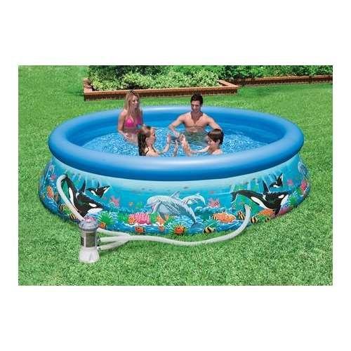 Intex 10 Foot By 30 Inch Ocean Reef Easy Set Pool Coconuas27