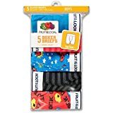 Fruit of the Loom 5Pack Boys Assorted Cotton Boxer Briefs Kids Underwear S