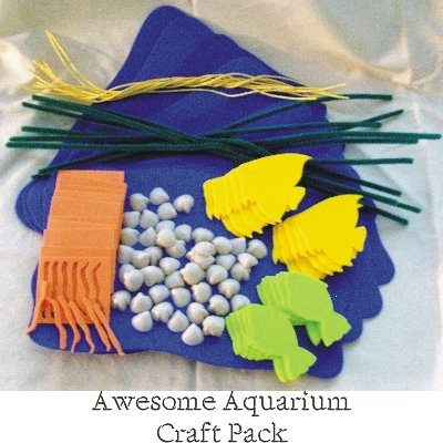Awesome Aquarium Preschool Craft Pack (10 Craft Kits per Package) - 1