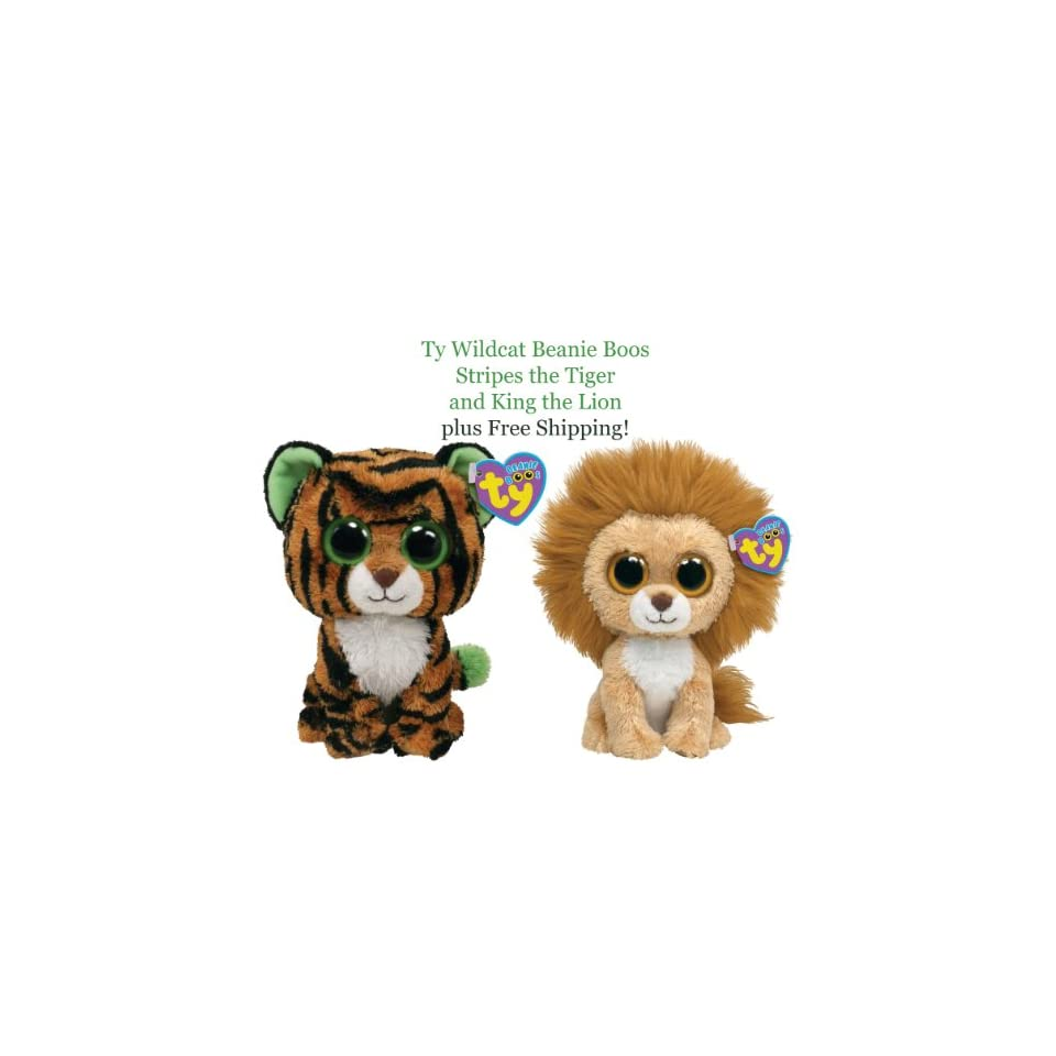 Ty Beanie Boo Tiger and Lion Wildcat Pair Toys   Games on PopScreen 01c068b8f435