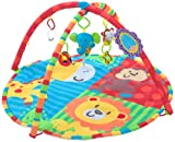 Hauck Round Play Rug and Activity Centre Jungle Fun with Hanging Mobile and Small Toys