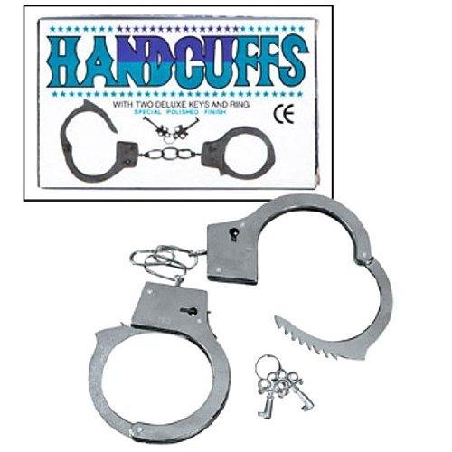 Luccicanti Giocattoli Metallo Doppio Lucchetto Manette W/chiavi (D044)