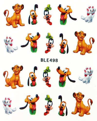 Miao Yun cartoon design cat and dog nail sticker water transfer decals nail hydroplaning nail decals
