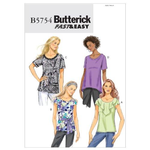 Butterick Patterns B5754 Misse Top, Size ZZ (LRG-XLG-XXL)