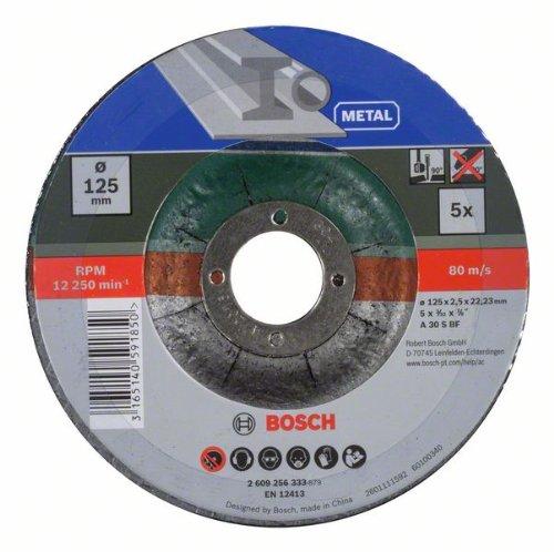 Bosch-DIY-Trennscheibe-Metall-gekrpft-fr-Winkelschleifer-5-Stck--125-mm
