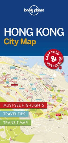 Lonely Planet Hong Kong City Map (Travel Guide)