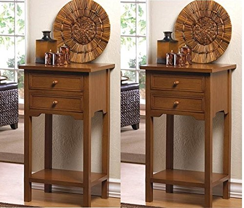 Buy Bargain SET OF 2 MULTI-PURPOSE TABLES (4 Colors to Choose From) (Brown)