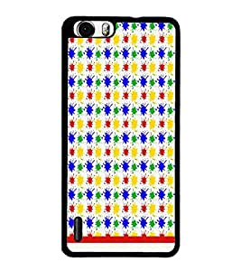 PrintDhaba Pattern D-1136 Back Case Cover for HUAWEI HONOR 6 PLUS (Multi-Coloured)