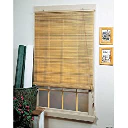 Eclipse Woodtone Vinyl Roll-Up Blinds, Size: 36x72