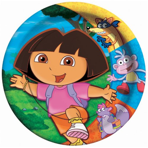 ShindigZ Dora the Explorer and Friends 9 inch Dinner Plates - 8-Pack - 1