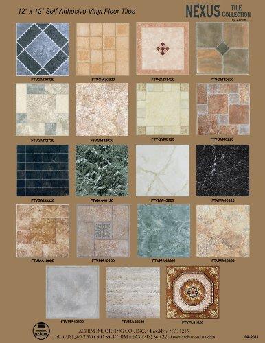 Achim home furnishings ftvgm32920 nexus 12 inch vinyl tile for 12 inch vinyl floor tiles