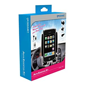 KONNET Auto Essential Kit - Six-in-One Pack for iPhone 4S, 4, 3Gs, 3G, iPhone and iPod Touch, Nano, Classic - 6 Pack - Retail Packaging (Black) - Special Promo