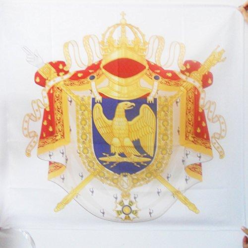BANDIERA ARMES NAPOLÉON PREMIER EMPIRE 1804-1815 90x90cm - BANDIERA DI NAPOLEONE 90 x 90 cm foro per asta - AZ FLAG