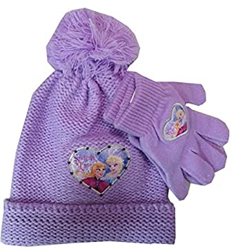 Disney Frozen Anna Elsa Hat and Glove Set