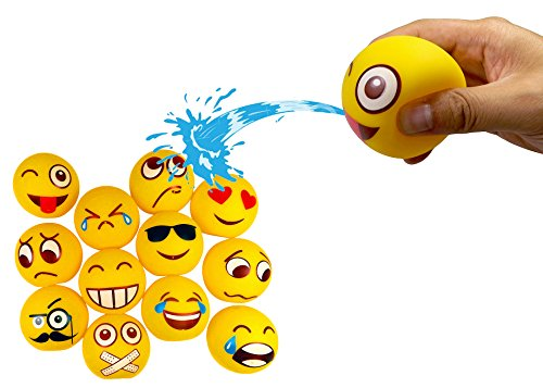 Water-Squirting-Emoji-Squeezable-Rubber-Novelty-Balls-12-Pack